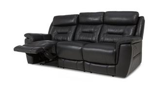 Jenson Leather and Leather Look 3 Seater Electric Recliner