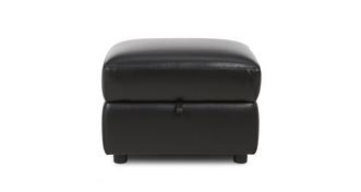 Jenson Leather and Leather Look Storage Footstool
