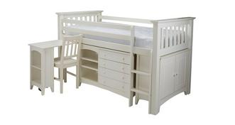 Jesse Right Hand Facing Ladder Mid Sleeper with Mattress