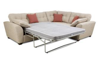 Left Hand Facing 3 Seater Deluxe Corner Sofa Bed