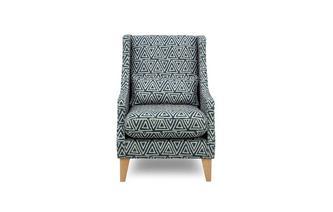 Geo Pattern Accent Chair