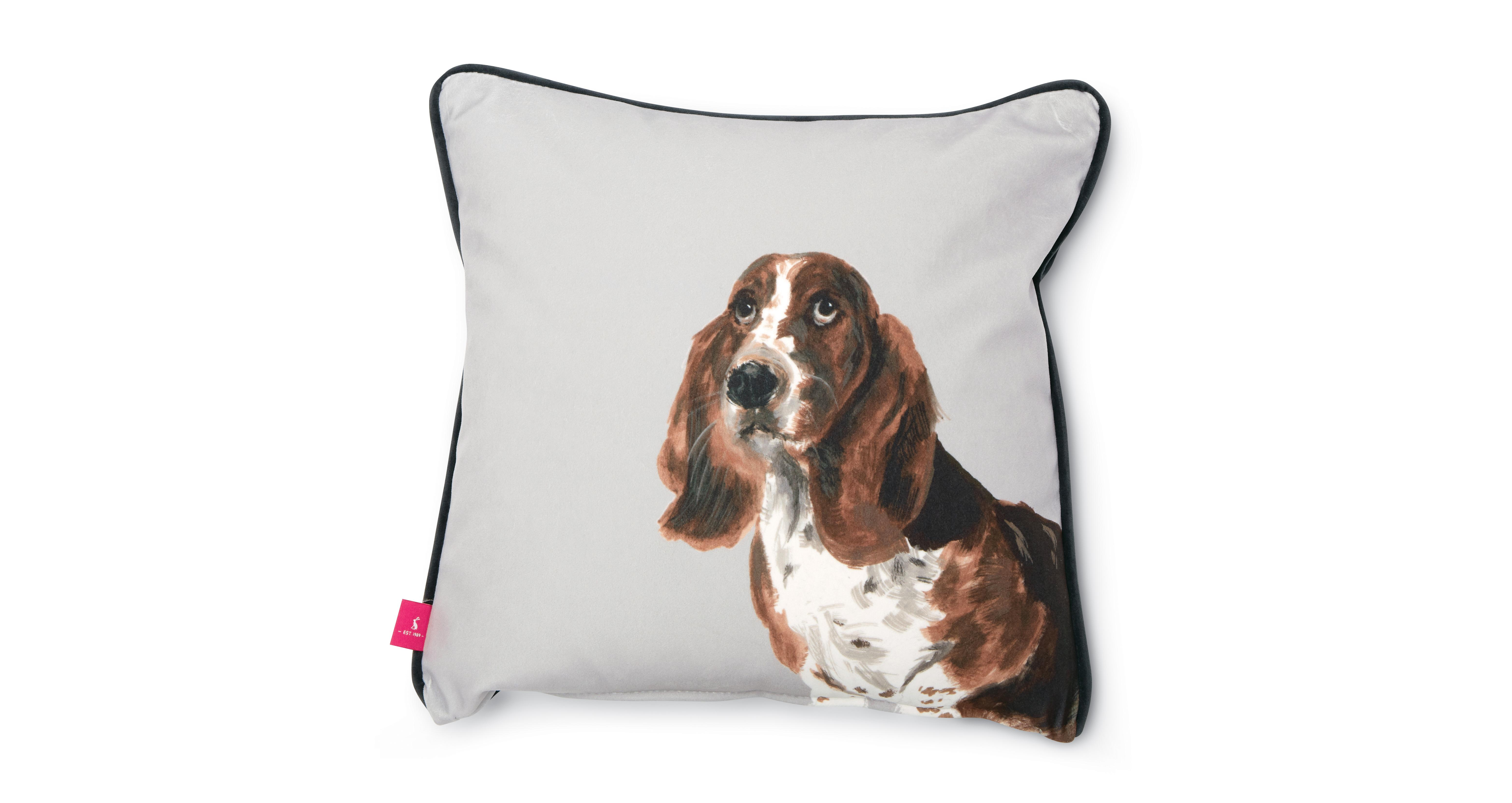 Joules Scatters Basset Hound Small Scatter Cushion Bernie