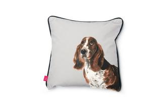 Basset-Hound Small Scatter Cushion