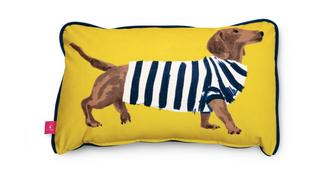 Joules Scatters Sausage-Dog Bolster Cushion