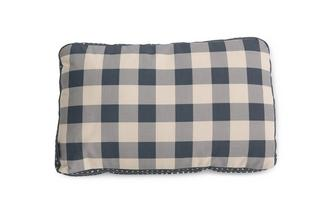 Gingham-Check Bolster Cushion