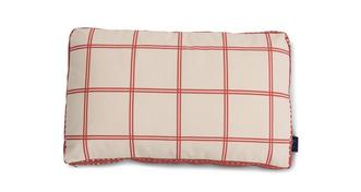 Joules Scatters Windowpane-Check Bolster Cushion
