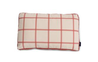 Windowpane-Check Bolster Cushion