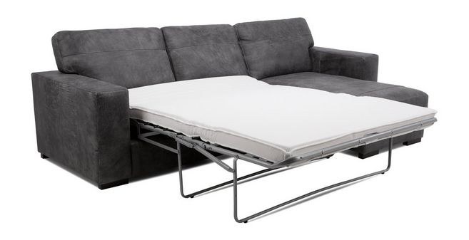 Julius: Right Hand Facing Chaise End Storage Deluxe Sofa Bed