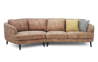 Left Hand Facing Angled 4 Seater Sofa