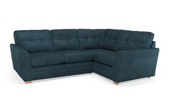 Velvet Left Hand Facing 2 Seater Corner Sofa