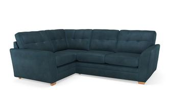 Velvet Right Hand Facing 2 Seater Corner Sofa