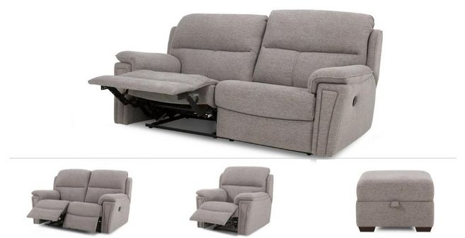 Jury Clearance: 3 Seater Manual Recliner Sofa, 2 Seater Power, Power Chair  U0026 Stool