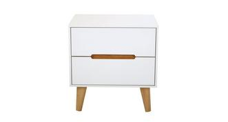 Jute 2 Drawer Bedside Chest