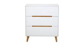 Jute 3 Drawer Chest