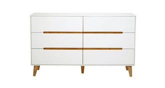 Jute 6 Drawer Wide Chest