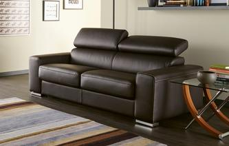 Dryden Leather Queen Sleeper Sofa ...