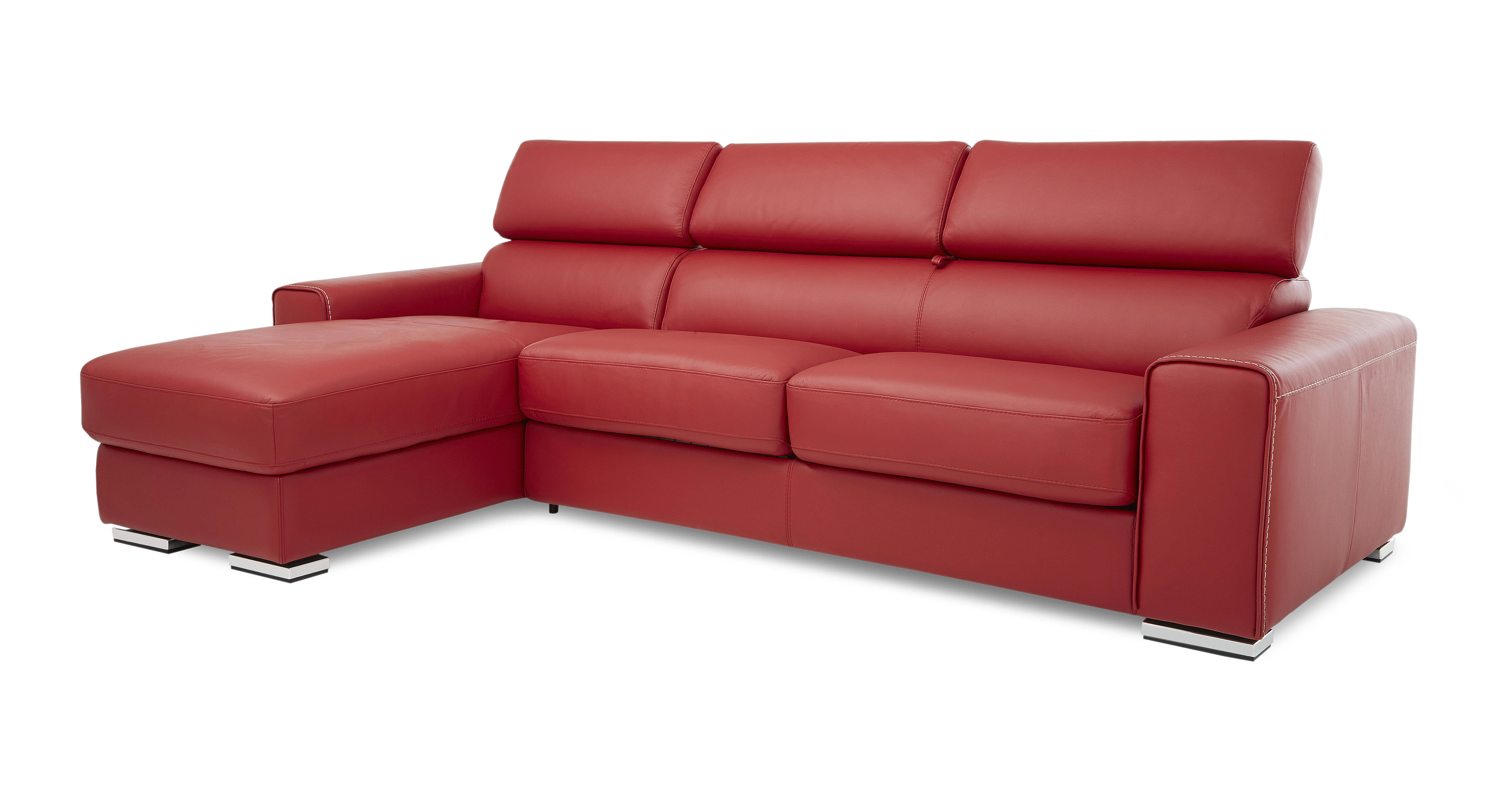 Dfs brown leather chaise sofa for Brown leather chaise