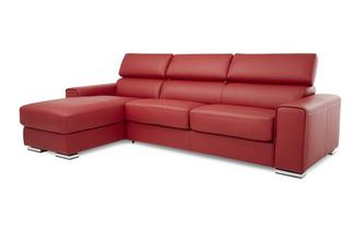 Left Hand Facing 3 Seater Storage Chaise Sofabed Sierra Contrast