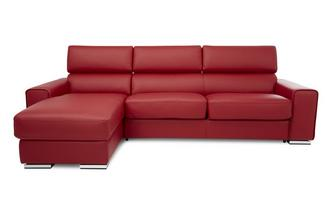 Left Hand Facing 3 Seater Storage Chaise Sofa Sierra Contrast