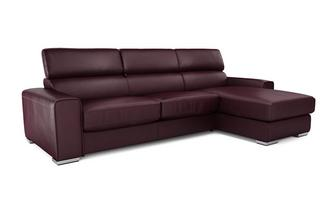 Kalamos Right Hand Facing 3 Seater Storage Chaise Sofabed Sierra Contrast