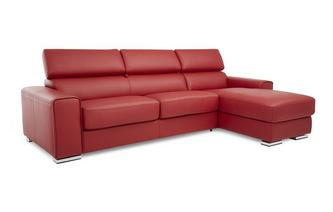 Right Hand Facing 3 Seater Storage Chaise Sofabed Sierra Contrast