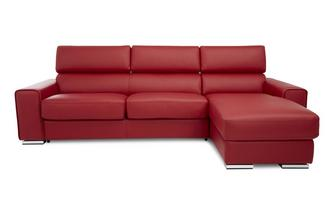 Right Hand Facing 3 Seater Storage Chaise Sofa Sierra Contrast