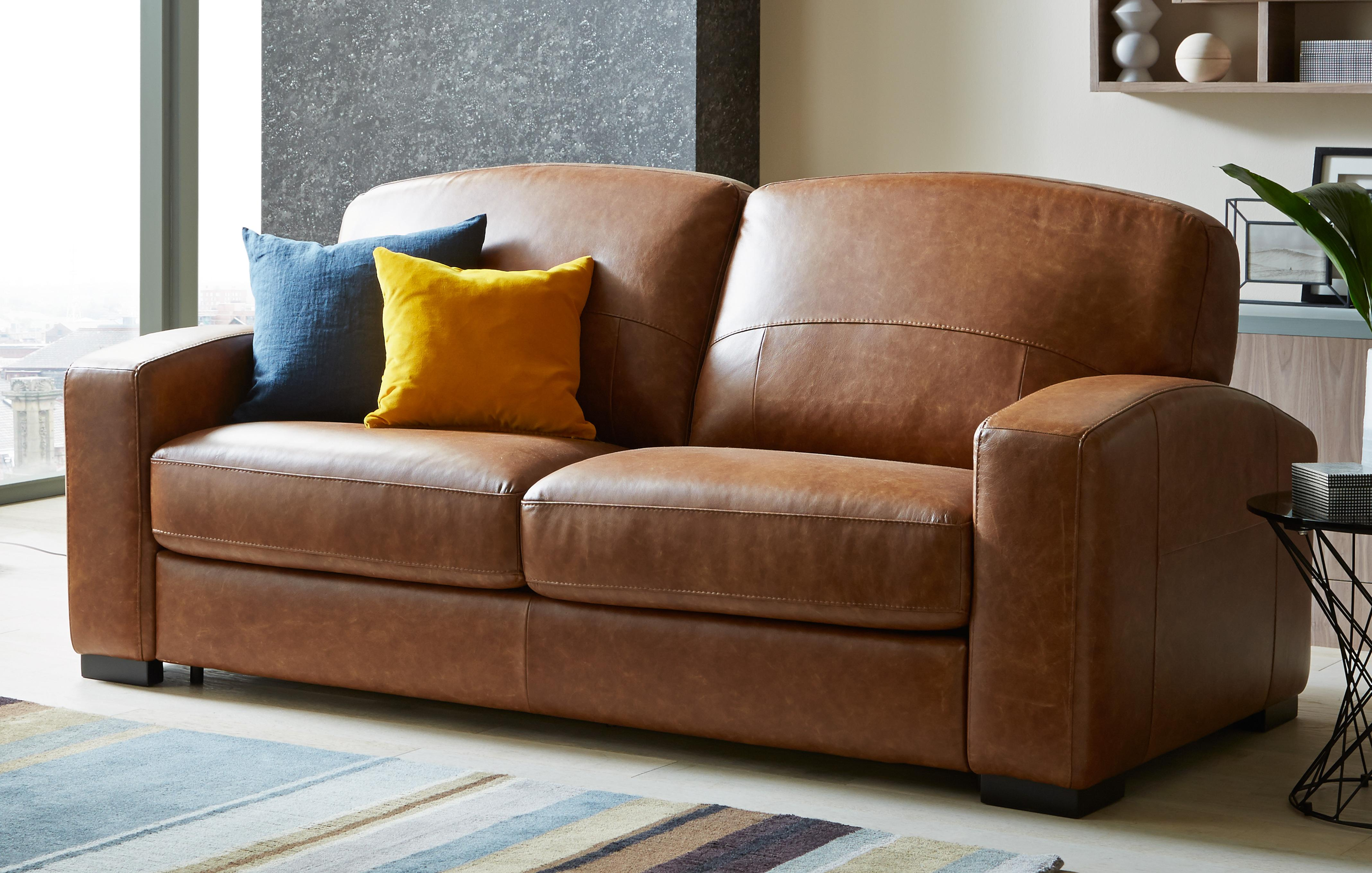 Leather Sofa Beds That Combine Quality Value DFS