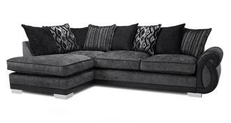 Kamilla Pillow Back Right Hand Facing 3 Seater Open End Corner Sofa