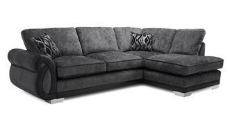 Kamilla Formal Back Left Hand Facing 3 Seater Open End Corner Sofa