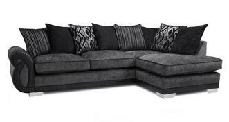 Kamilla Pillow Back Left Hand Facing 3 Seater Open End Corner Sofa