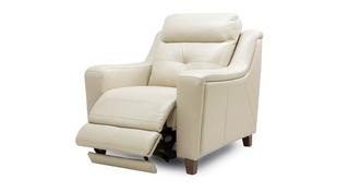 Kansas Leather Power Recliner Chair