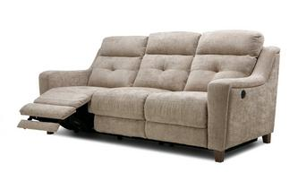 Fabric 3 Seater Power Recliner Kansas Plain