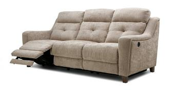Kansas Fabric 3 Seater Power Plus Recliner