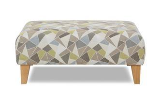 Pattern Banquette Footstool Karisma Pattern