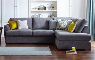 Karisma Left Arm Facing Open End Corner Sofa Sherbet