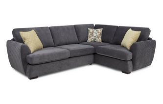 Left Hand Facing 2 Seater Deluxe Corner Sofa Bed Sherbet