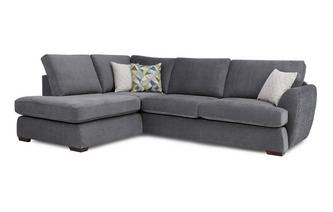 Right Arm Facing Open End Corner Sofa Sherbet