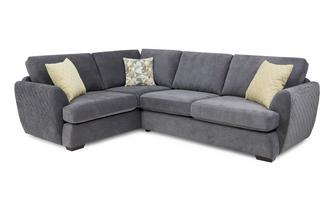 Right Hand Facing 2 Seater Deluxe Corner Sofa Bed Sherbet