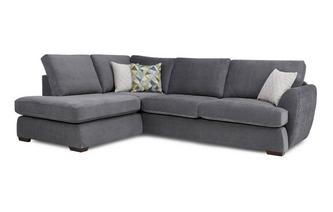 Right Arm Facing Open End Corner Deluxe Sofabed Sherbet