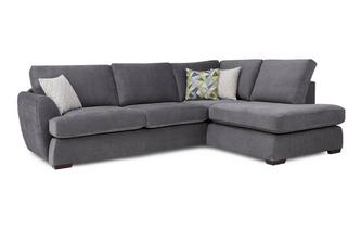 Left Arm Facing Open End Corner Deluxe Sofabed Sherbet