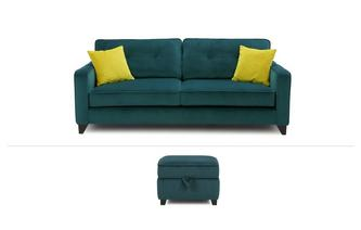 Kate Clearance 4 Seater & Storage Footstool Kate
