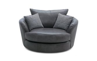 Leather Large Swivel Chair