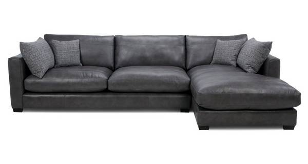 About the Keaton: Leather Right Hand Facing Large Chaise End Sofa