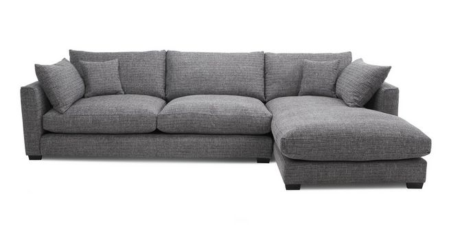 Keaton: Weave Right Hand Facing Large Chaise End Sofa