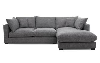 Weave Right Hand Facing Small Chaise End Sofa