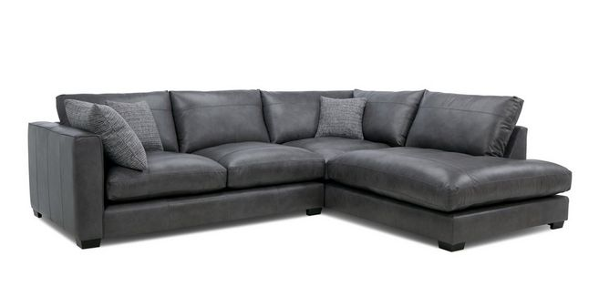 Remarkable Keaton Leather Left Hand Facing Arm Small Open End Corner Sofa Alphanode Cool Chair Designs And Ideas Alphanodeonline