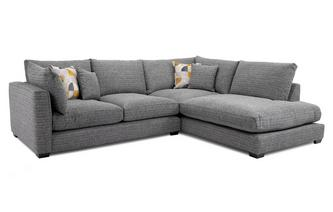 Weave Left Hand Facing Arm Small Open End Corner Sofa