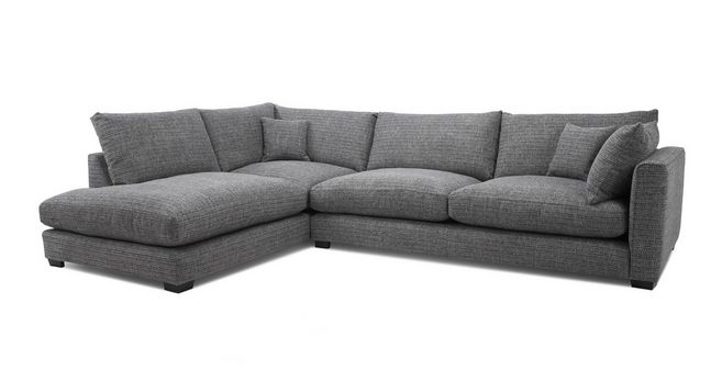 Keaton: Weave Right Hand Facing Arm Large Open End Corner Sofa