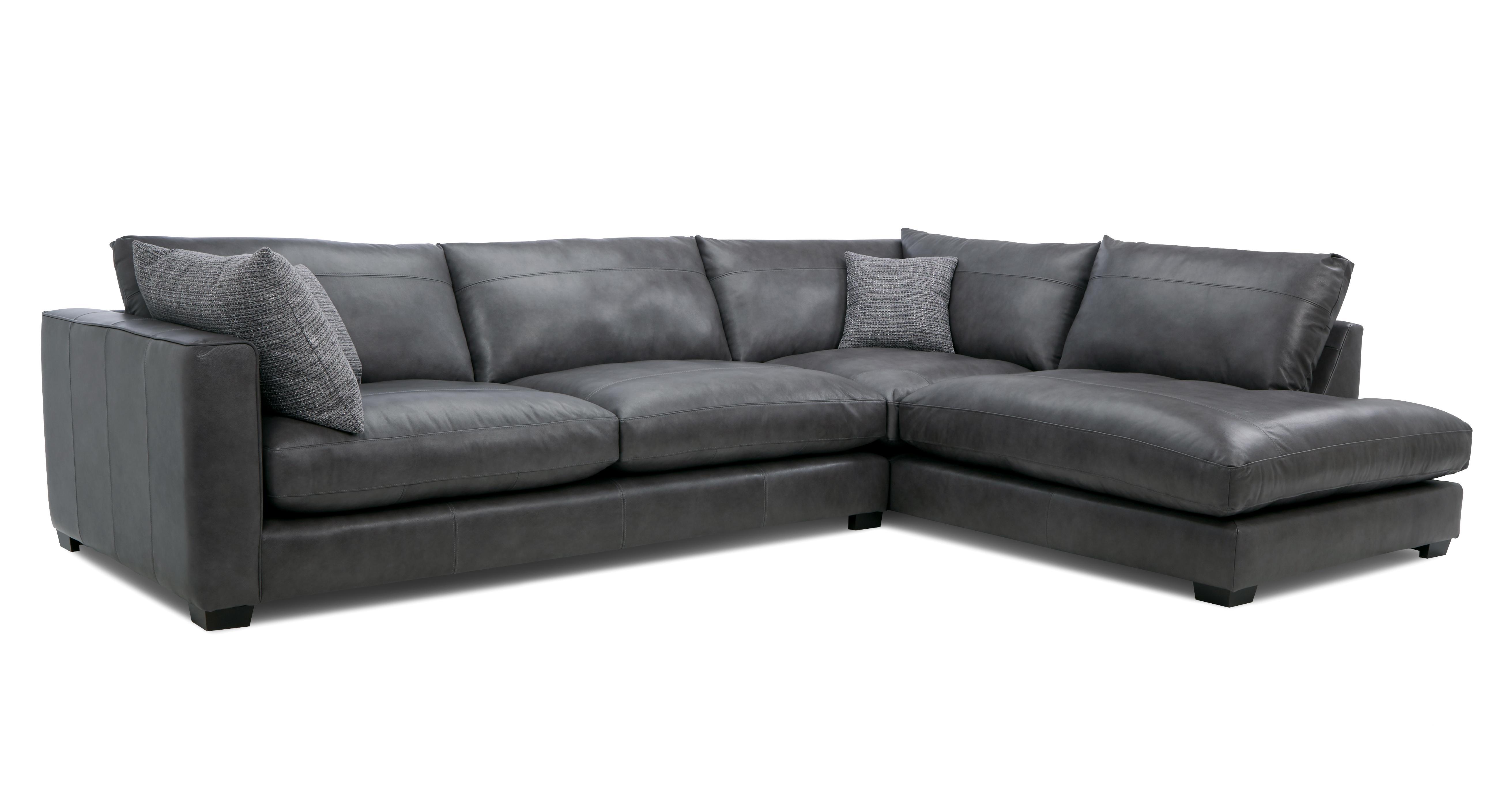 - Keaton Leather Left Hand Facing Arm Large Open End Corner Sofa