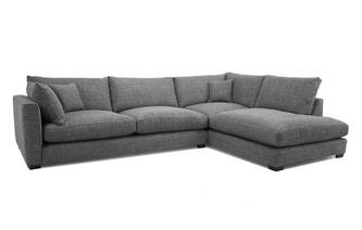 Weave Left Hand Facing Arm Large Open End Corner Sofa